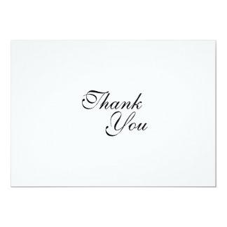 "Thank you wedding template 5"" x 7"" invitation card"