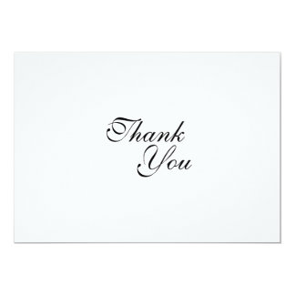 Thank you wedding template 5x7 paper invitation card