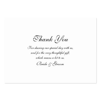 Thank you wedding template pack of chubby business cards