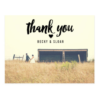 Thank You | WEDDING THANK YOU POST CARD