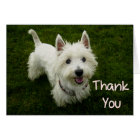 Thank You West Highland Terrier Puppy Dog Card