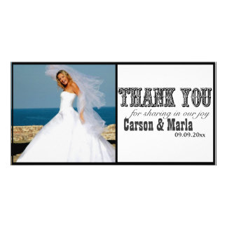 """Thank You"" Western Style (Special Occasion) Customized Photo Card"