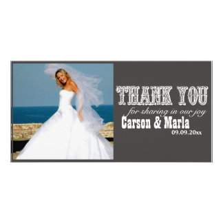 """""""Thank You"""" Western Style (Special Occasion) Personalized Photo Card"""