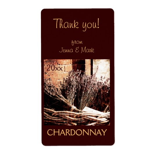 thank you wine bottle label shipping label