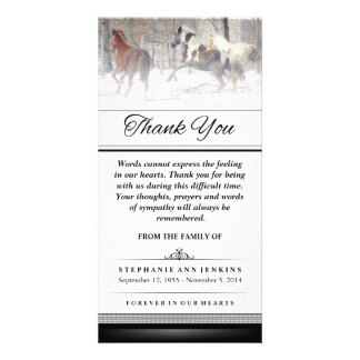 Thank You - Winter Horses - Words Cannot Express Photo Cards