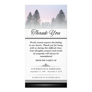 Thank You Winter Pine Trees Words Cannot Express Card
