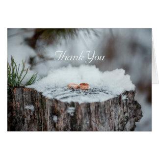Thank You--Winter Wedding Card