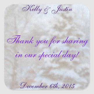 Thank You Wintry Wedding Stickers