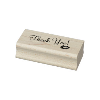 Thank You with Kiss RUBBER STAMP