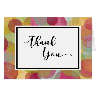 Thank You with Multicolored, Whimsical Circles Card
