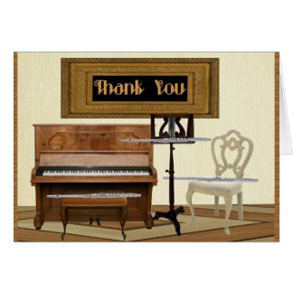 Thank You with Three Flutes and Piano Card
