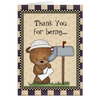 Thank You World's Greatest Mailman card