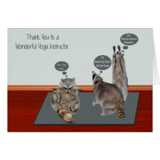 Thank You Yoga Instructor Greeting Cards