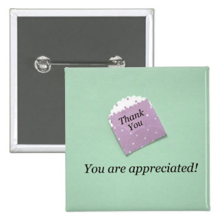 Thank You, you are appreciated! 15 Cm Square Badge