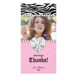 Thank You Zebra Lace Pearls Jewel Sweet 16