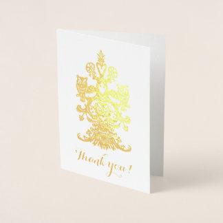 Thank yu golden royal owls foil card