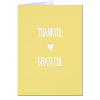 Thankful and Grateful greeting card Golden