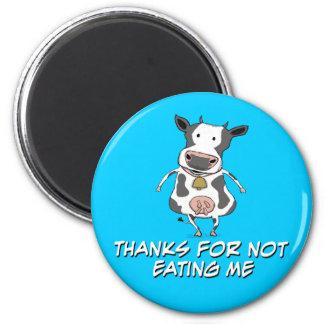 Thankful Cow 6 Cm Round Magnet