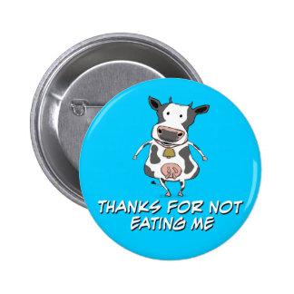 Thankful Cow 6 Cm Round Badge