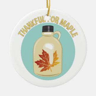 Thankful For Maple Ceramic Ornament