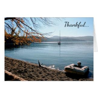 Thankful for peace San Juan Islands greeting card