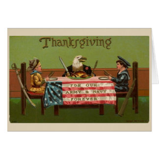 Thankful for the Military on Thanksgiving, Card