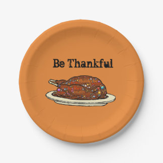 Thankful For You Paper Plate