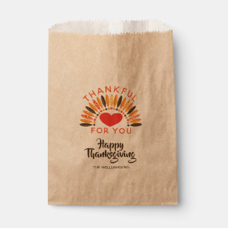 THANKFUL FOR YOU Personalized Thanksgiving Favour Bag
