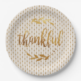 Thankful Gold - Paper plate