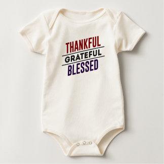 Thankful Grateful Blessed Baby Bodysuit