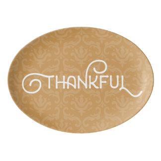 Thankful • Lovely platter in Fall Autumn colour Porcelain Serving Platter