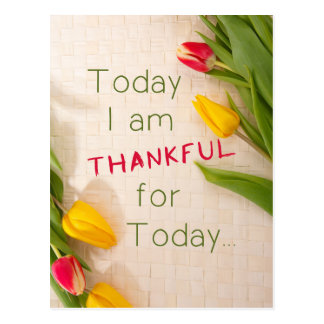 Thankful Motivational Qoutes Postcard