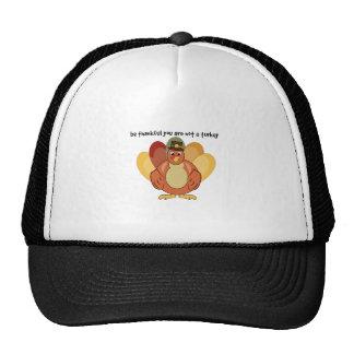 Thankful Not A Turkey Trucker Hats
