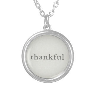 Thankful Silver Plated Necklace