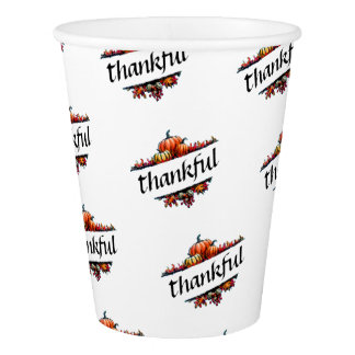 Thankful Thanksgiving Harvest Party Drink Cups