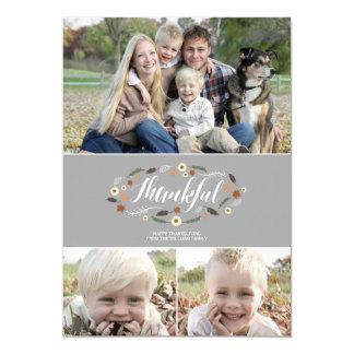 Thankful Thanksgiving Photo Card 13 Cm X 18 Cm Invitation Card