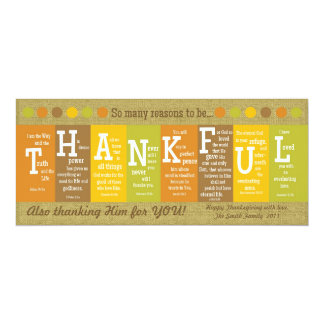THANKFUL Thanksgiving Scripture Card-Customize It! 10 Cm X 24 Cm Invitation Card