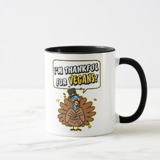 Thankful Turkey Ringer Mug