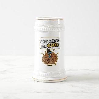 Thankful Turkey stein 18 Oz Beer Stein