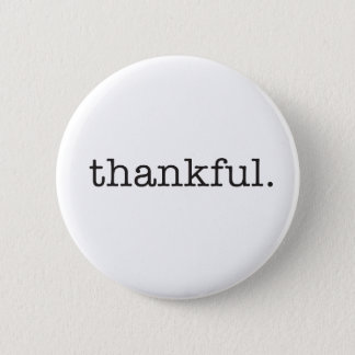 Thankful Typography 6 Cm Round Badge