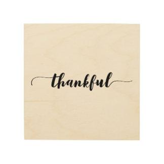 'Thankful' Wood Wall Art