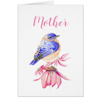Thanking the Lord Mother Birthday Bluebird Art Card