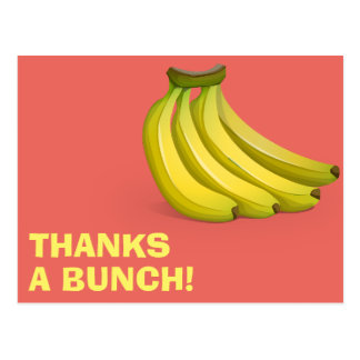 Thanks A Bunch Bananas | Funny Thank You Postcard