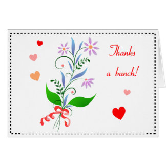 Thanks a Bunch Floral Card