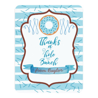 Thanks a Hole Bunch Blue Donut Thank You Cards