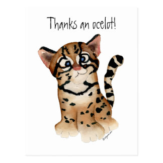 Thanks an Ocelot Postcard