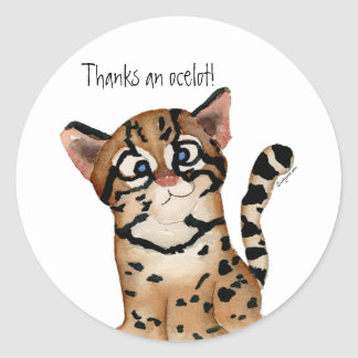 Thanks an Ocelot Stickers