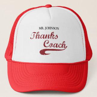 Thanks Baseball Coach Large Grunge Baseball Trucker Hat