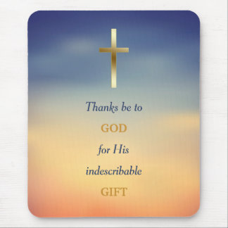 Thanks Be to God Christian Cross Mousepad