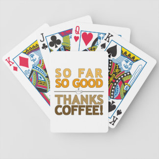 Thanks Coffee Bicycle Playing Cards